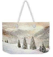 Weekender Tote Bag featuring the digital art Winter Morning by Kai Saarto