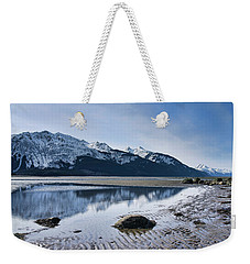 Winter Mountain Reflections Weekender Tote Bag