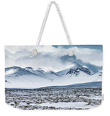 Winter Mountains Landscape, Iceland Weekender Tote Bag