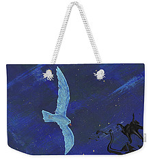 Weekender Tote Bag featuring the painting Winter Night by Manuel Sueess