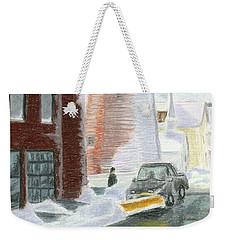 Winter On Munjoy Hill Weekender Tote Bag