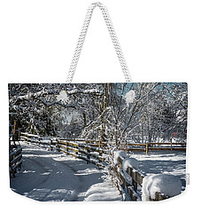 Winter On Ruskin Farm Weekender Tote Bag