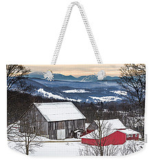 Winter On The Farm On The Hill Weekender Tote Bag