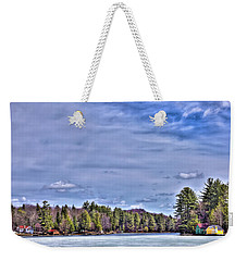 Weekender Tote Bag featuring the photograph Winter On The Pond by David Patterson