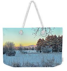 Winter On The Tree Farm Weekender Tote Bag