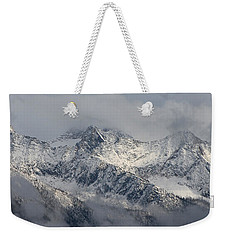 Weekender Tote Bag featuring the photograph Winter On The Way by Cathie Douglas