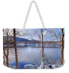 Winter On West Lake Weekender Tote Bag by David Patterson
