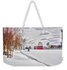 Winter Owen Sound Harbour Weekender Tote Bag
