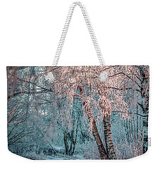 Weekender Tote Bag featuring the photograph Winter Path #h1 by Leif Sohlman