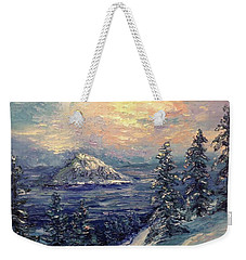 Winter Peace Weekender Tote Bag