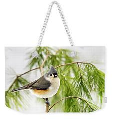 Winter Pine Bird Weekender Tote Bag by Christina Rollo
