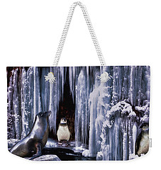 Winter Playground Weekender Tote Bag