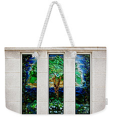 Winter Quarters Temple Tree Of Life Stained Glass Window Details Weekender Tote Bag