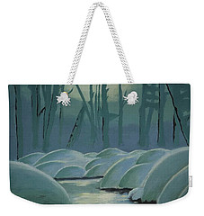 Winter Quiet Weekender Tote Bag by Jacqueline Athmann