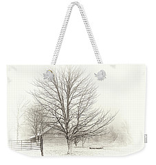 Winter Ranch Weekender Tote Bag