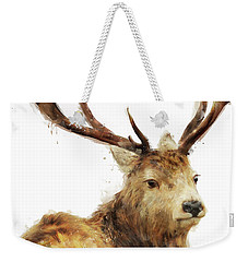 Winter Red Deer Weekender Tote Bag