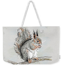 Winter Red Squirrel Weekender Tote Bag