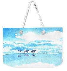 Winter Reflection Weekender Tote Bag
