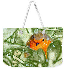 Winter Robin Weekender Tote Bag