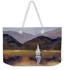 Winter Sailing At Our Island Weekender Tote Bag by Randy Sprout
