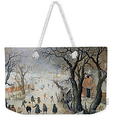 Winter Scene Weekender Tote Bag by Hendrik Avercamp