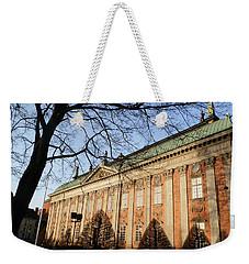 Winter Scene In Stockholm Weekender Tote Bag by Margaret Brooks