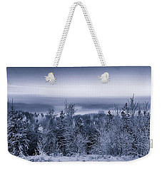 Winter Scenery Of The Lake Hiidenvesi Bw Weekender Tote Bag