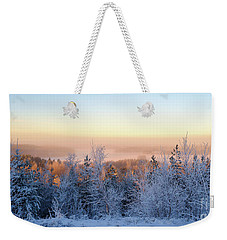 Winter Scenery Of The Lake Hiidenvesi Weekender Tote Bag