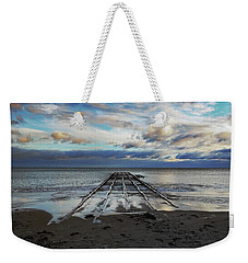 Winter Sea Weekender Tote Bag