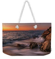 Winter Sea Weekender Tote Bag