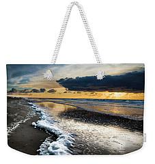Winter Sea Sunset Weekender Tote Bag