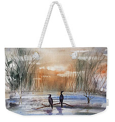 Winter Sereniny Weekender Tote Bag