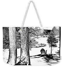Weekender Tote Bag featuring the photograph Winter Shadows by David Patterson