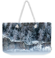 Winter Shore Weekender Tote Bag