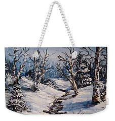 Winter Silence Weekender Tote Bag