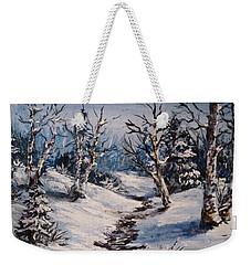 Winter Silence Weekender Tote Bag by Megan Walsh