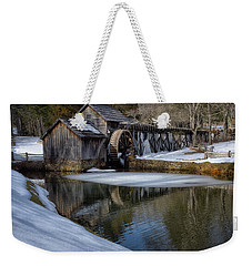 Winter Snow At Mabry Mill Weekender Tote Bag