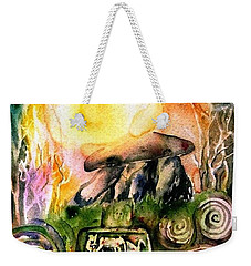 Winter Solstice , Ancient Stones Of Ireland   Weekender Tote Bag by Trudi Doyle
