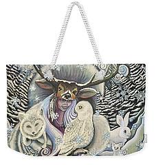 Winter Solstice Weekender Tote Bag