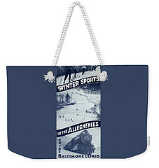 Winter Sports In The Alleghenies Weekender Tote Bag