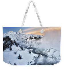 Winter Steam  Weekender Tote Bag by Nicki Frates