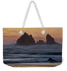 Weekender Tote Bag featuring the photograph Winter Storm - 365-248 by Inge Riis McDonald