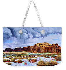 Winter Storm In Mystery Valley Weekender Tote Bag