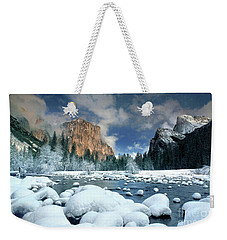 Weekender Tote Bag featuring the photograph Winter Storm In Yosemite National Park by Dave Welling