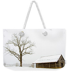 Weekender Tote Bag featuring the photograph Winter Storm On The Farm by George Randy Bass