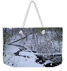 Winter Stream Bed Weekender Tote Bag by Scott Kingery