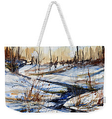 Winter Stream Weekender Tote Bag by Judith Levins