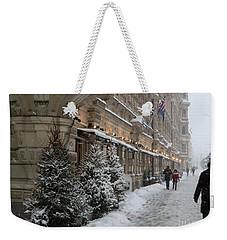 Winter Stroll In Helsinki Weekender Tote Bag by Margaret Brooks