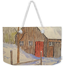 Winter Sugar House Weekender Tote Bag