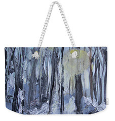 Weekender Tote Bag featuring the painting Winter Sun by Robin Maria Pedrero